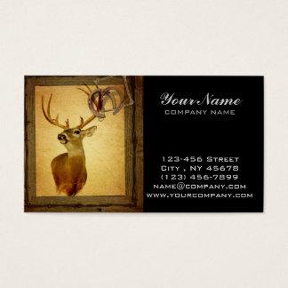 Cartão De Visitas Cervos de madeira da cauda branca do fanfarrão do