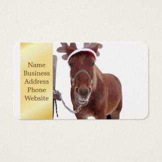 Cartão De Visitas Cervos do cavalo - cavalo do Natal - cavalo