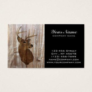 Cartão De Visitas Cervos primitivos ocidentais da madeira do celeiro
