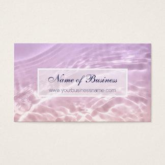 Cartão De Visitas Cetim cor-de-rosa chique da água da elegância
