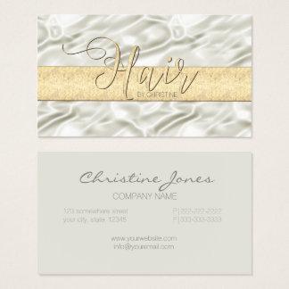 Cartão De Visitas Cetim de Champagne e cabelo ID186 do ouro