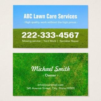 Cartão De Visitas Céu azul de sega da grama do campo do verde do