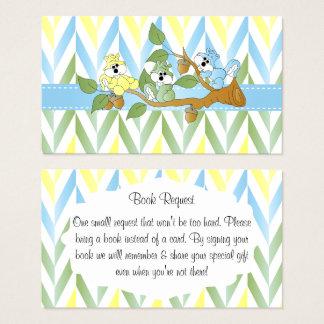 Cartão De Visitas Chá Pastel do bebé do esquilo - pedido do livro
