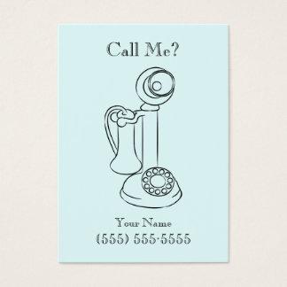 Cartão De Visitas Chamada antiga do telefone/cartão de visita