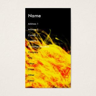 Cartão De Visitas Chamas |