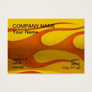 Cartão De Visitas chamas alaranjadas do hotrod