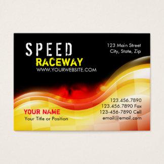 Cartão De Visitas Chamas da velocidade do carro de corridas no fogo