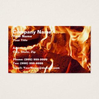 Cartão De Visitas Chamas vermelhas intensas super