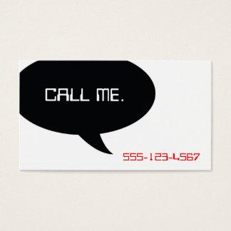 Cartão De Visitas Chame-me