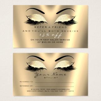 Cartão De Visitas Chicotes do Lux do ouro do preto do brilho do