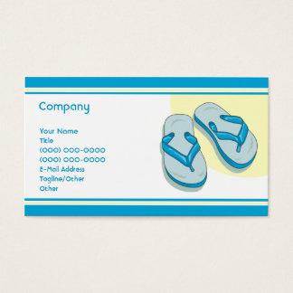 Cartão De Visitas Chinelos azuis