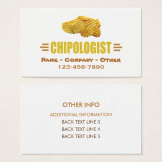 Cartão De Visitas CHIPSOLOGIST - Microplaquetas de batata cómicos