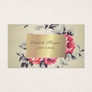 Cartão De Visitas Chique à moda elegante, flores