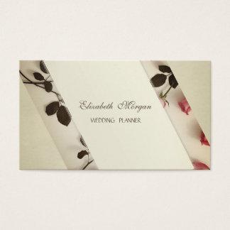 Cartão De Visitas Chique à moda elegante, rosas