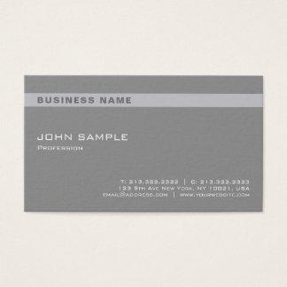 Cartão De Visitas Chique cinzento profissional elegante moderno