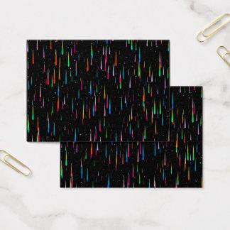Cartão De Visitas chuva do meteoro