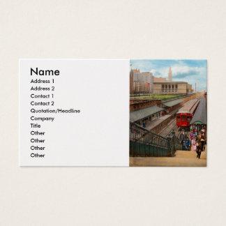 Cartão De Visitas Cidade - Chicago - a estação 1907 da rua de Van