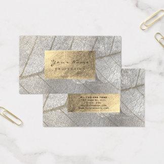 Cartão De Visitas Cimento botânico da folha de ouro das cinzas de