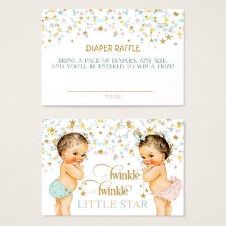 Cartão De Visitas Cintilação pouco bebê do vintage do Raffle da