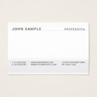 Cartão De Visitas Cinza elegante profissional moderno simples