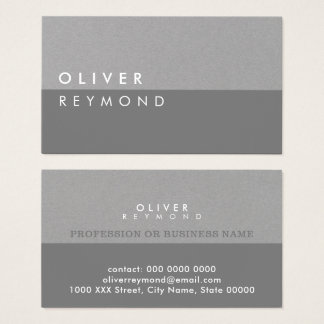 Cartão De Visitas cinza-em-cinzas profissionais modernas & à moda