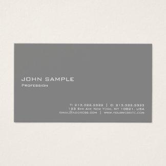 Cartão De Visitas Cinza profissional elegante moderno de