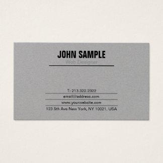 Cartão De Visitas Cinza profissional moderno liso simples