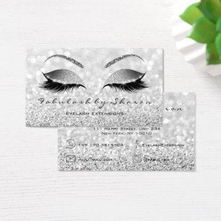 Cartão De Visitas Cinzas de prata do brilho dos chicotes da