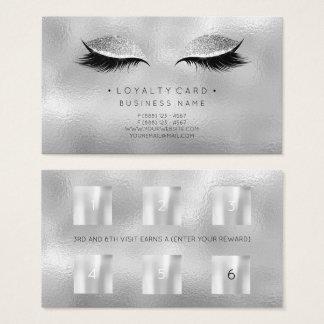 Cartão De Visitas Cinzas do brilho da composição da beleza do
