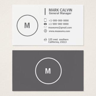 Cartão De Visitas Cinzas e branco simples lisos profissionais
