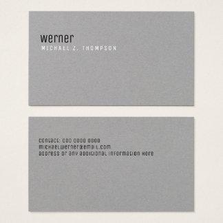 Cartão De Visitas cinzas simples elegantes profissionais