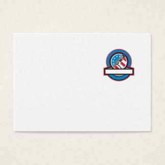 Cartão De Visitas Círculo da bandeira dos EUA da chave de tubulação