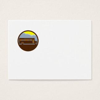 Cartão De Visitas Círculo das montanhas do vintage do auto escolar
