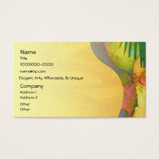 Cartão De Visitas Citrino tropical dos prazeres
