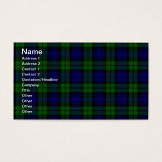 Cartão De Visitas Clã de Campbell do tartan de Blackwatch