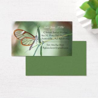 Cartão De Visitas Claro-asa encantador