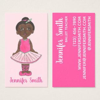 Cartão De Visitas Classe cor-de-rosa do estúdio do instrutor da