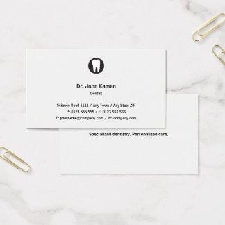 Cartão De Visitas Clássico clássico do dentista |