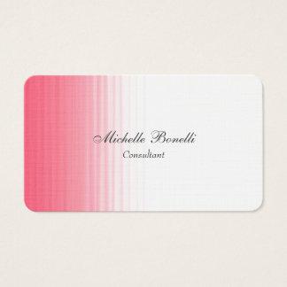 Cartão De Visitas Clássico liso feminino minimalista branco