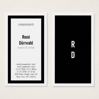 Cartão De Visitas Clássicos corajosos em preto e branco