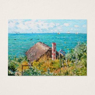 Cartão De Visitas Claude Monet a cabine em belas artes do