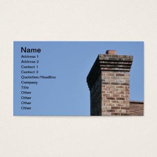 Cartão De Visitas close up de uma chaminé moderna do tijolo