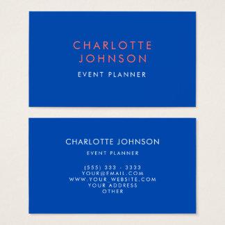 Cartão De Visitas Cobalto profissional do planejador de evento
