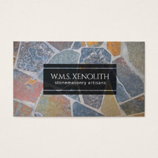 Cartão De Visitas Cobblestones pintados elegantes/pedras decorativas