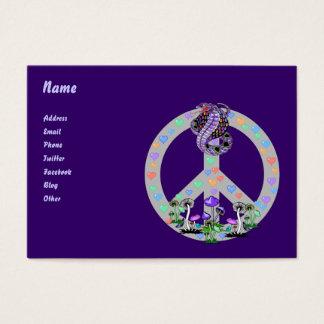 Cartão De Visitas Cobra do símbolo de paz