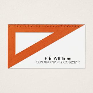 Cartão De Visitas Cobrir da régua do triângulo