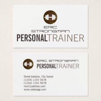 Cartão De Visitas Cobrir do estilo do dumbbell de Fitnesss