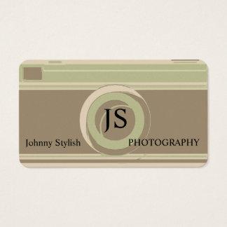 Cartão De Visitas Cobrir retro rústico profissional da fotografia