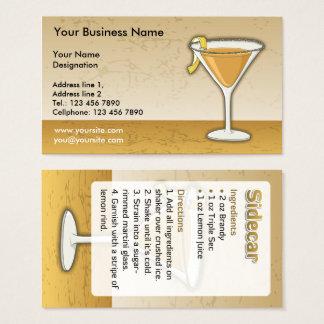 Cartão De Visitas Cocktail do side-car