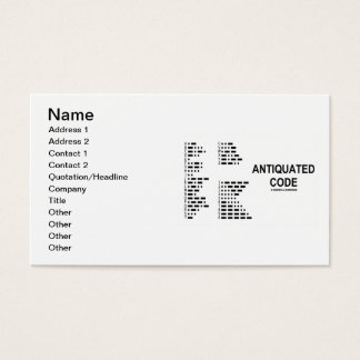 Cartão De Visitas Código antiquado (código Morse internacional)